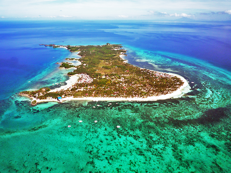Malapascua Island Aerial View