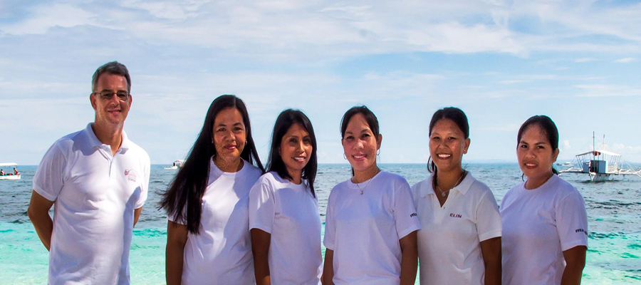 Reception and administration staff of ocean vida